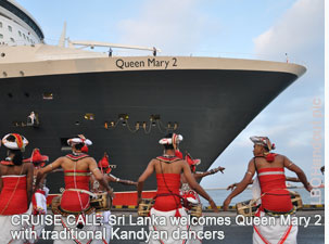 Queen May 02 ocean liner in Colombo