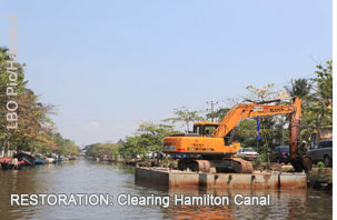 Sri Lanka colonial era Hamilton Canal being rehabilitated