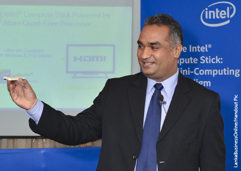 Ultra small computer by Intel; first look in Sri Lanka
