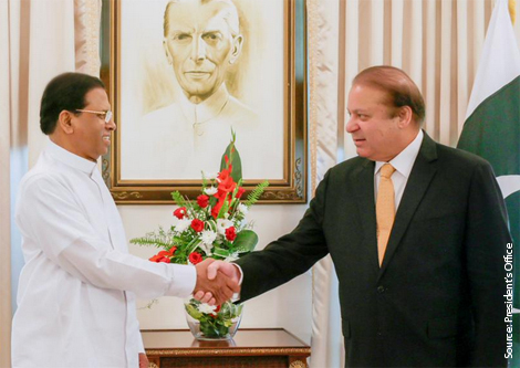 Pakistan PM on three-day visit to Sri Lanka