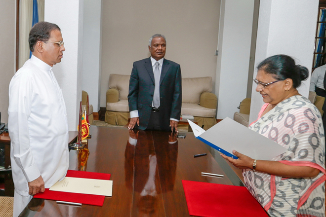 Sri Lanka's President appoints acting Chief Justice
