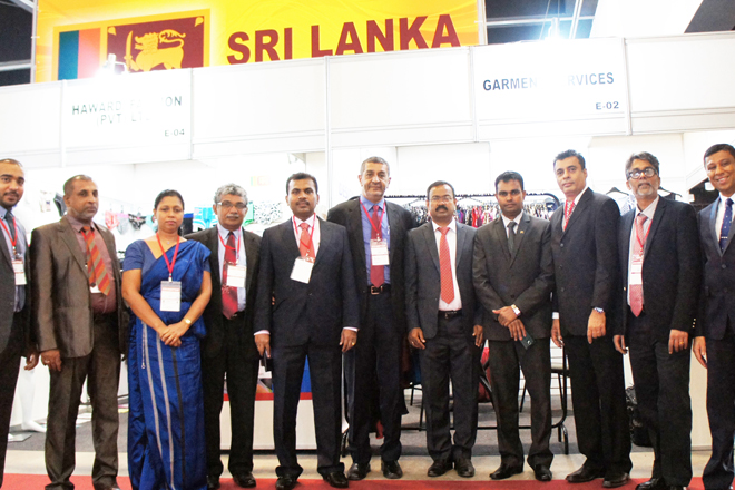 Sri Lanka apparel delegates at Brazil International Apparel Sourcing 2015 show, Sao Paulo