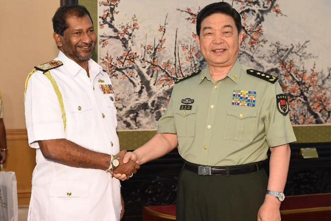 China, Sri Lanka pledge to strengthen military cooperation
