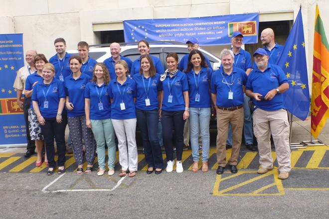 EU Election Observation Mission departs for provinces in Sri Lanka