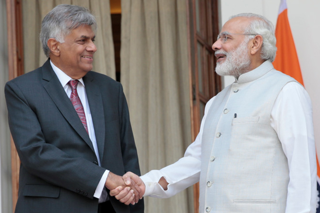 Sri Lankan Prime Minister meets Indian Prime Minister and External Affairs Minister