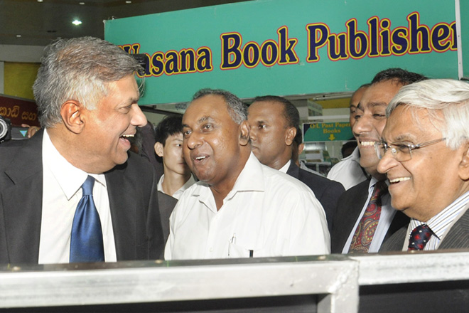 Smiling Premier at Colombo International Book Fair today
