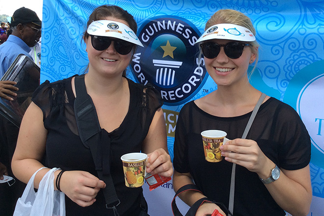 Sri Lanka passes the Guinness Record for largest Tea Party in Kandy