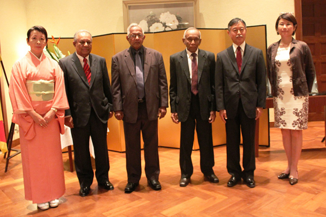 Three Sri Lankans honoured by Japanese Foreign Minister