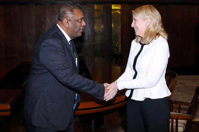 Mangala meets US Ambassador-at-Large for Global Women's Issues