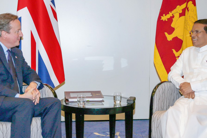 £6.6 mln, non-resident defence attaché to help Sri Lanka: David Cameron