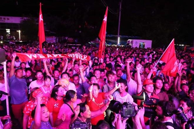 Suu Kyi set to win majority in Myanmar election