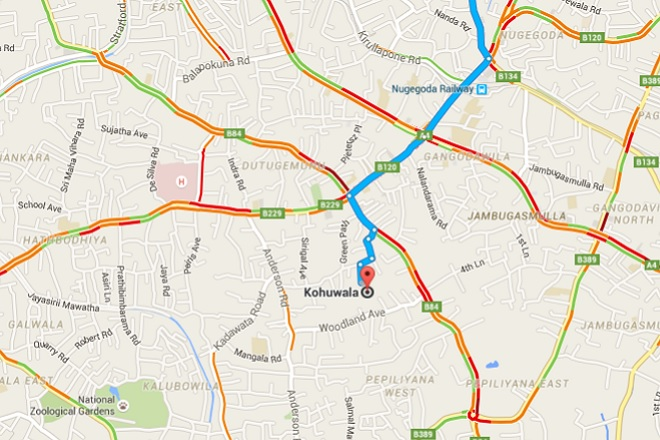 Google makes traffic congestion maps available for Sri Lanka