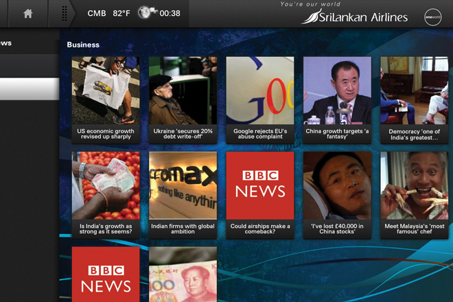 SriLankan Airlines now offers real-time news, sports and weather