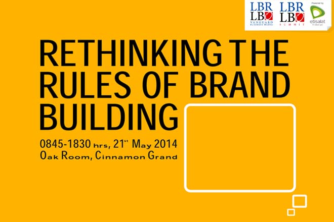 "LBR LBO Brand Summit 2014 – ""Rethinking the Rules of Brand Building"" – Wednesday, 21st May 2014"