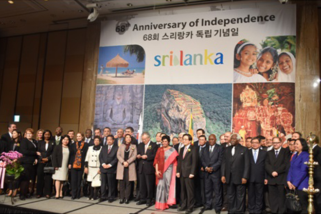 Sri Lanka fetes 68th independence in South Korea