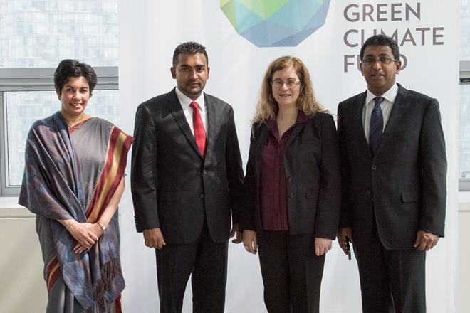 Sri Lanka officials meet Green Climate Fund