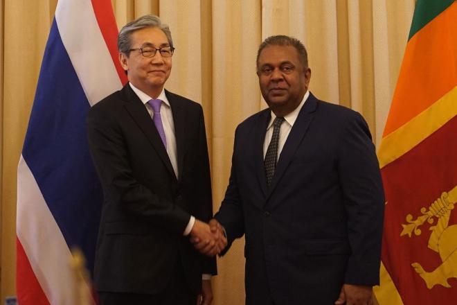 Deputy Prime Minister of Thailand arrives Sri Lanka