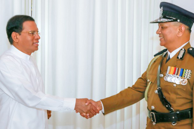 IGP Illangakoon called on President to formally inform his retirement