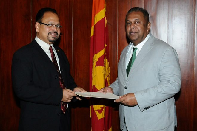 Harim Peiris appointed as advisor to Foreign Minister