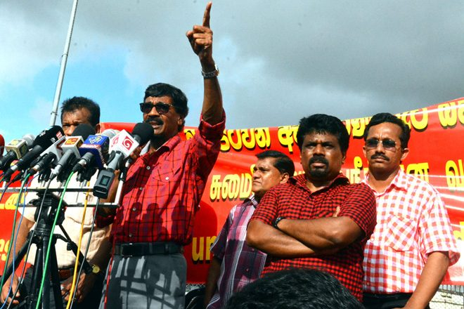 JVP protest against recent VAT hike