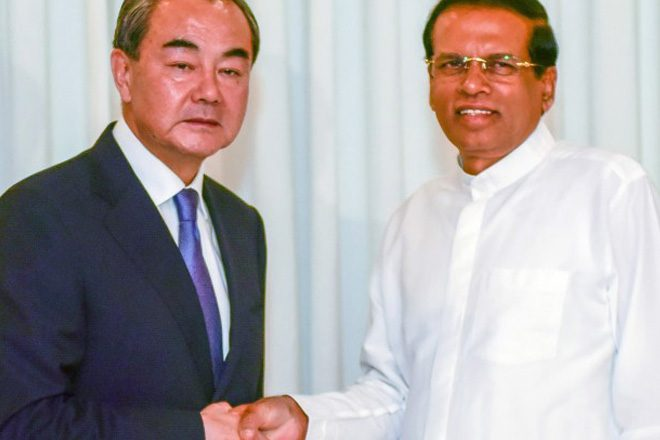 Chinese FM appreciates President for resumption of Port City work