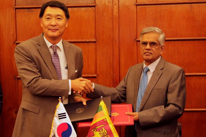 Korea pledges USD300mn development loans to Sri Lanka till 2018