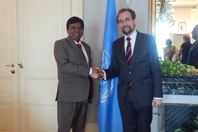 Justice Minister meets UN High Commissioner for Human Rights
