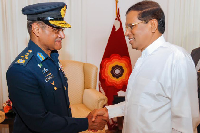 Pakistan's Air Chief meets Sri Lankan President