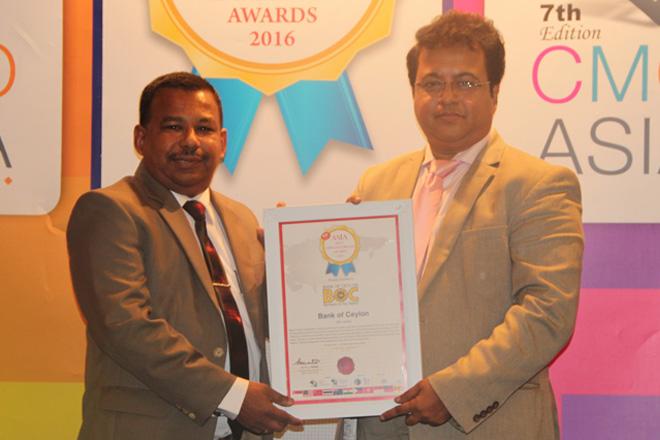 Asia Best Employer Brand 2016 conferred on Bank of Ceylon