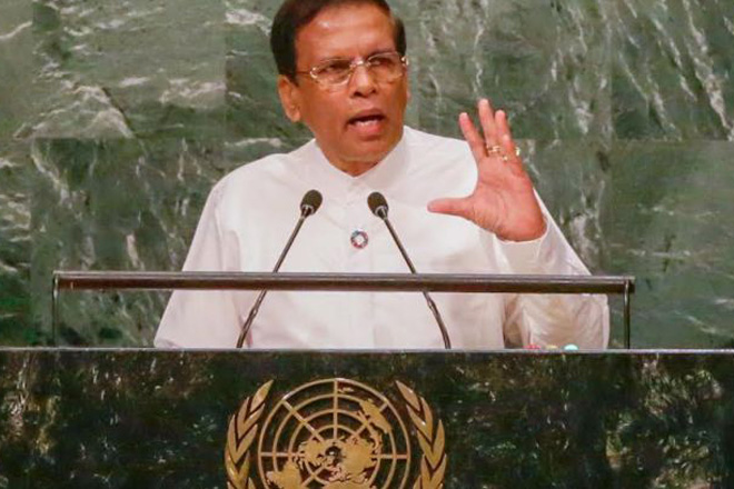 I am determined to alleviate poverty: President Sirisena at UNGA