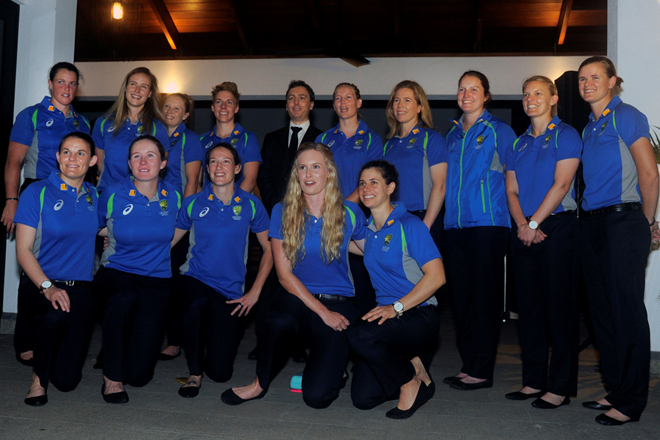 Australian women's team in Sri Lanka for first cricket series