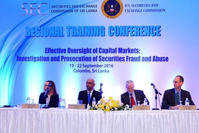 US, Sri Lanka SEC holds regional training to prosecute securities fraud