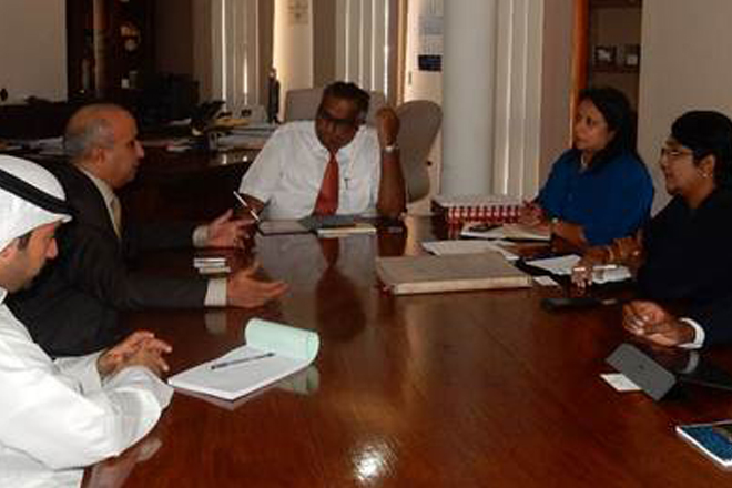 Kuwaiti envoy held talks with Ceylon Chamber on trade & investments