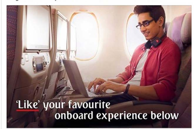 Vote on Facebook for your favourite feature on Emirates Economy Class