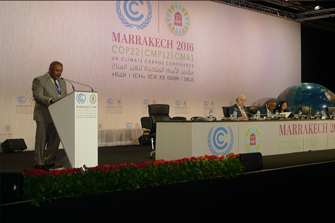 Statement by FM at 22nd Climate Change Conference (COP22) in Marrakech