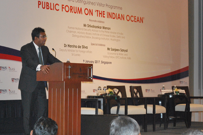 "Deputy Foreign Affairs Minister addresses public forum on ""Indian Ocean"""