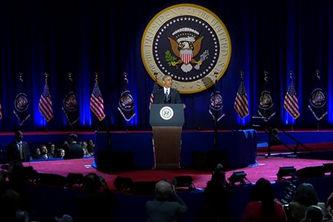 Obama says democracy requires solidarity, in farewell speech