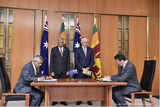 Australia and Sri Lanka sign new partnership agreement