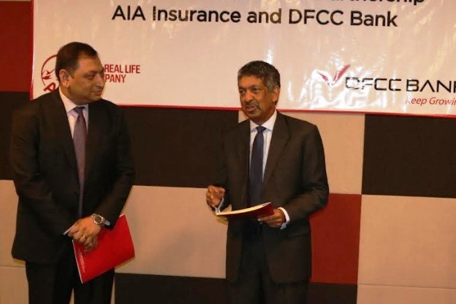 DFCC partners with AIA to offer new Bancassurance solutions