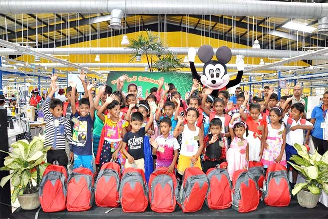 Brandix helps 5,700 children with gifts of stationery and school bags