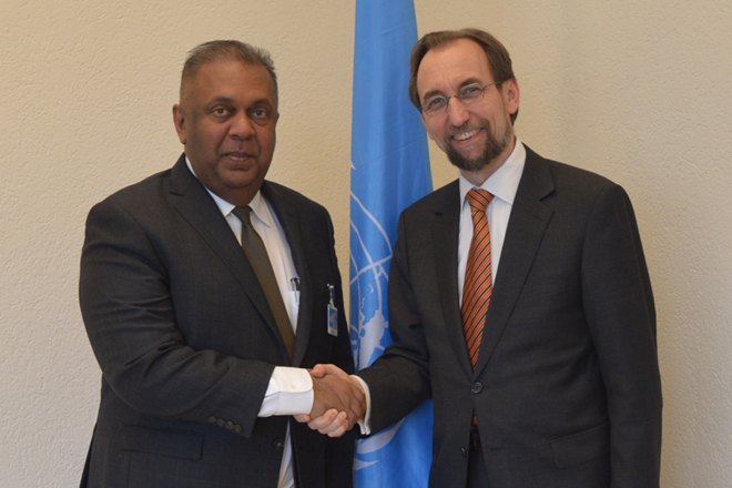 FM Samaraweera meets UN High Commissioner for Human Rights