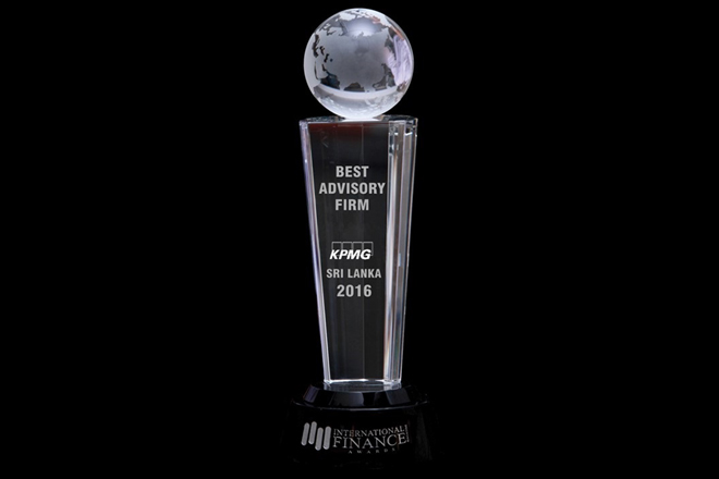 KPMG awarded best advisory firm in Sri Lanka by Intl. Finance Magazine