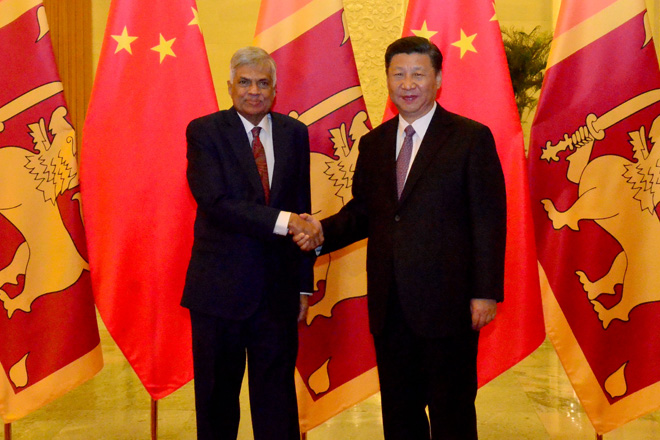 China pledges Yuan 2.4bn to Sri Lanka up to 2020