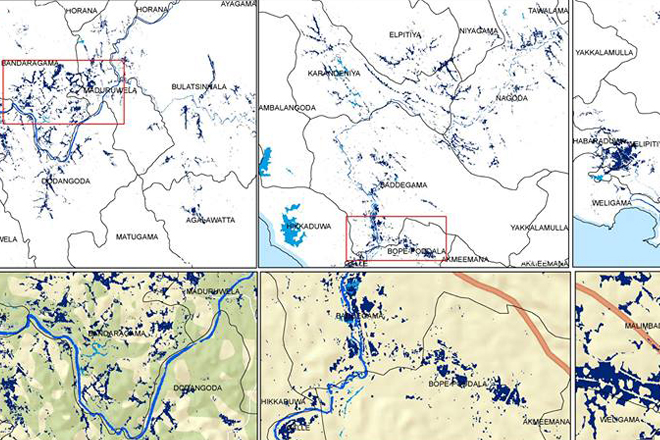 Sri Lanka flood death toll rises, DMC provides maps