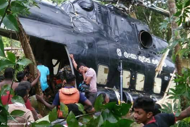 Sri Lanka Air Force Mi-17 helicopter crashes, no casualties