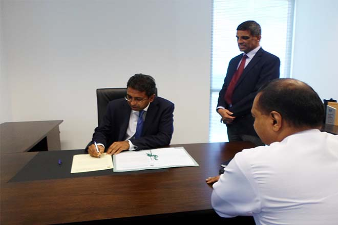 Harsha assumed duties as Deputy Min National Policies and Economic Affairs
