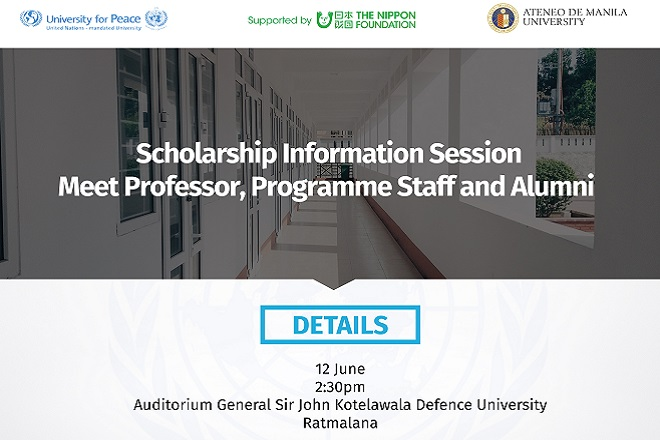 Asian Peacebuilders Programme to hold information session