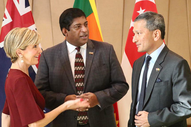 Australia Foreign Minister meets Singapore counterpart during Sri Lanka visit
