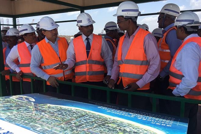 Government agencies review Sri Lanka Port City progress