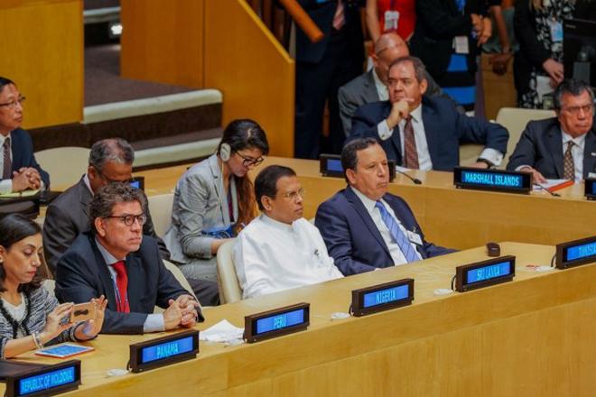 Sri Lanka's President attends UN Economic & Social Council sessions